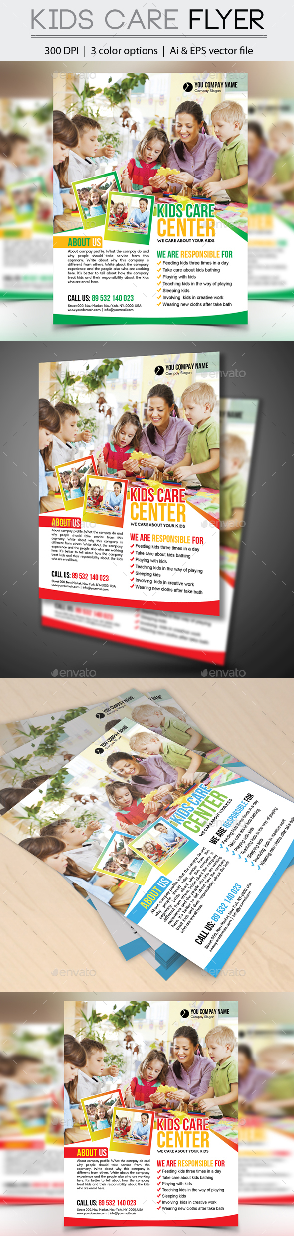 Kids Care Flyer - Flyers Print Templates