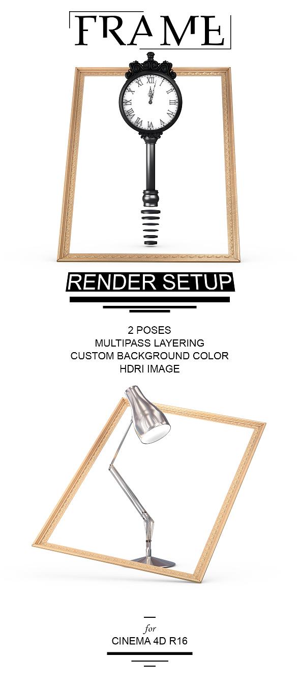 Frame Render Setup for Cinema 4D - 3DOcean Item for Sale