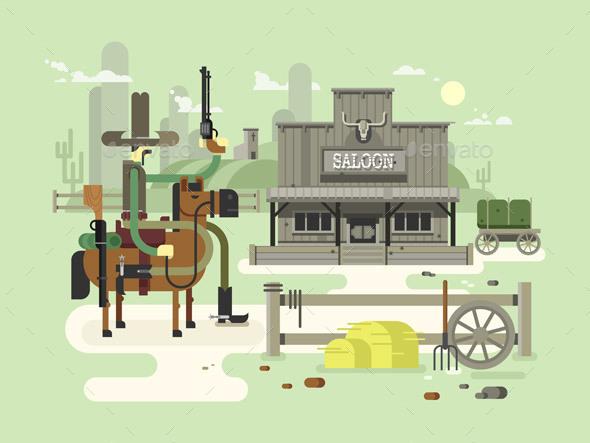 Wild West Saloon - Buildings Objects