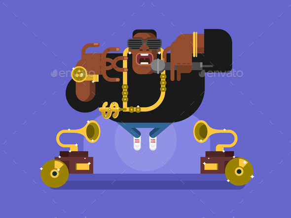 Black Rapper Character - People Characters