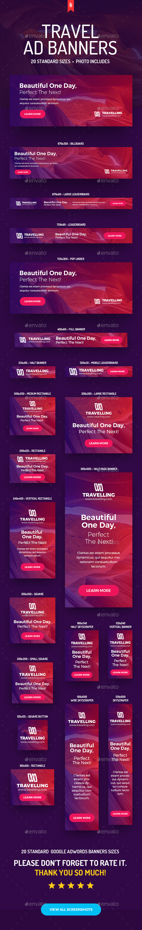 Travelling - Travel Ad Banners - Banners & Ads Web Elements
