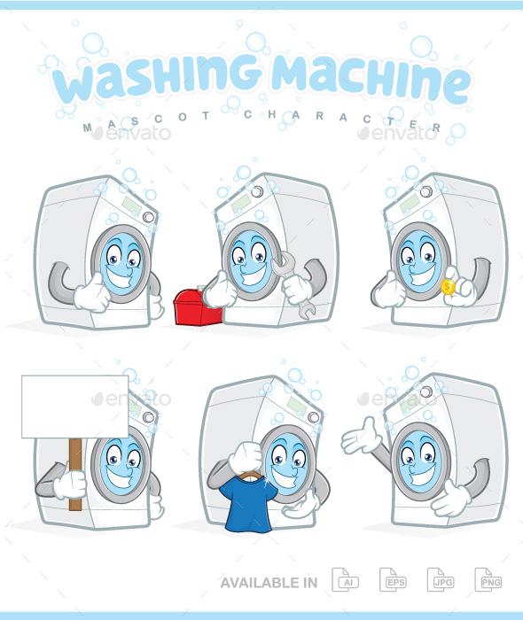 Washing Machine Mascot Character - Miscellaneous Characters