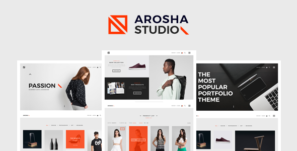 Arosha – Creative Minimal WordPress Theme