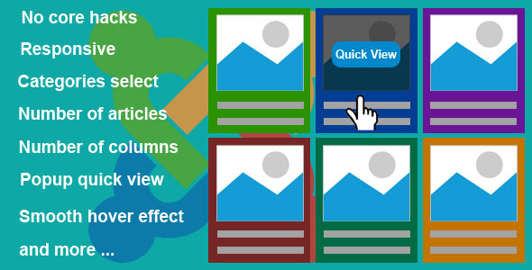 Responsive Grid Quick View Articles for Joomla - CodeCanyon Item for Sale