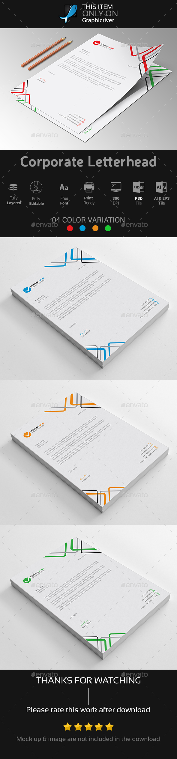 Corporate Letterhead Vol-05 - Stationery Print Templates