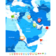 Middle East and Asia Map with Navigation Icons - GraphicRiver Item for Sale