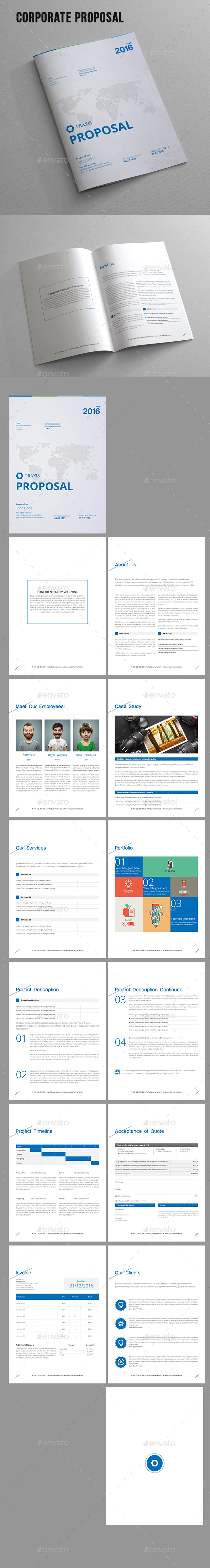 Corporate Proposal - Proposals & Invoices Stationery