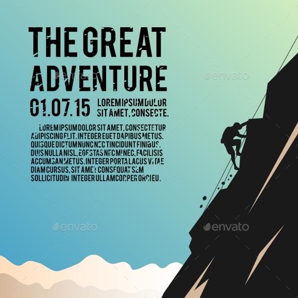 Climbing Vector Poster - Web Elements Vectors