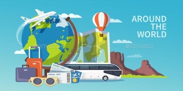 Travel Vector Banner - Travel Conceptual