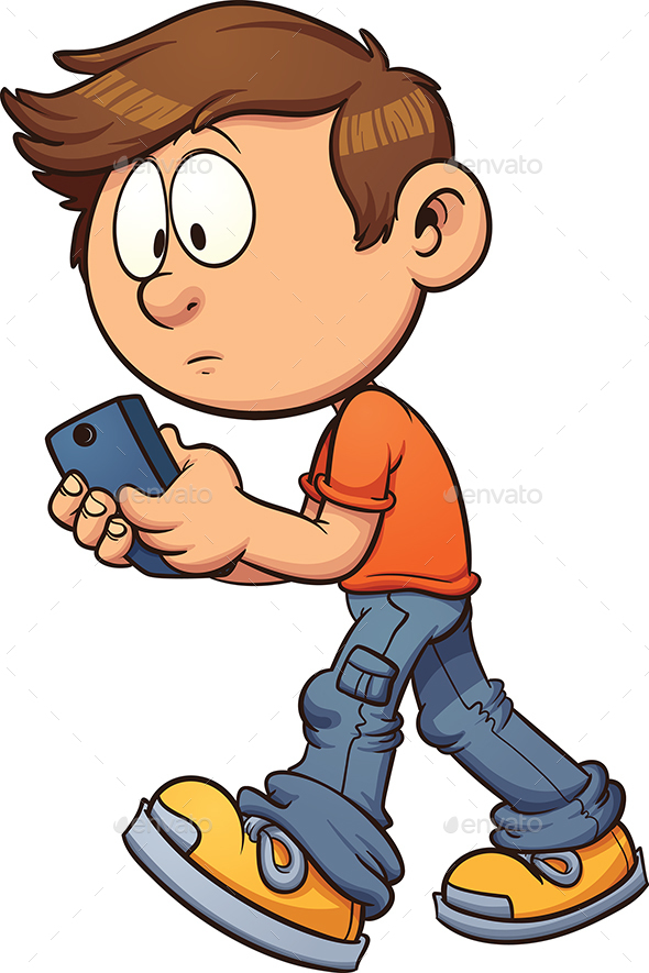 Texting while Walking - People Characters