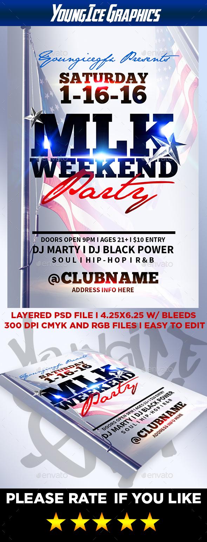 MLK Weekend Flyer Template - Clubs & Parties Events