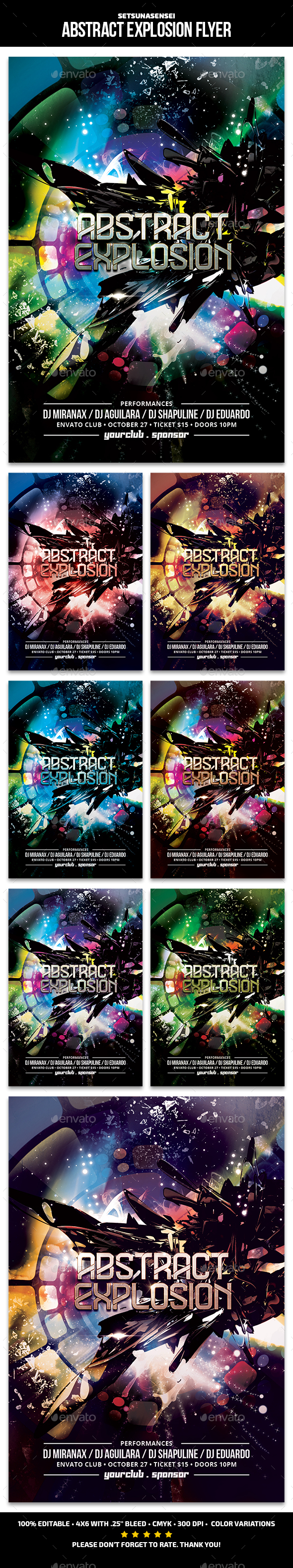 Abstract Explosion Flyer - Clubs & Parties Events