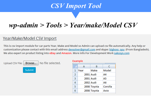 Woocommerce Vehicle Parts Finder Year Make Model