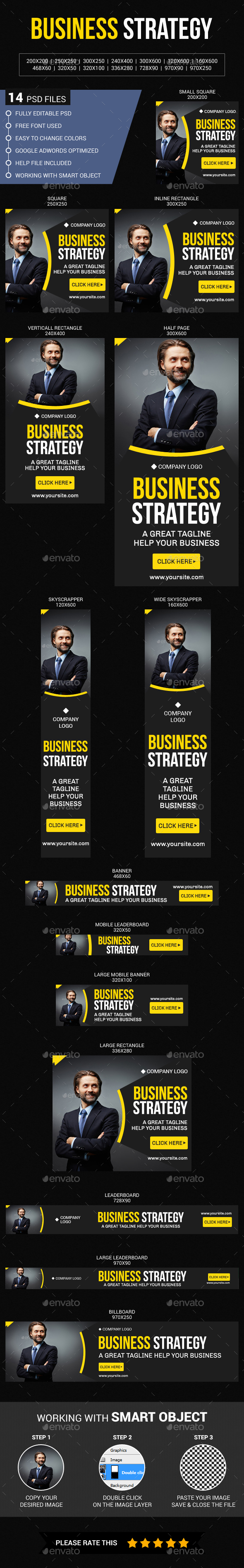 Multipurpose Corporate Business - Banners & Ads Web Elements