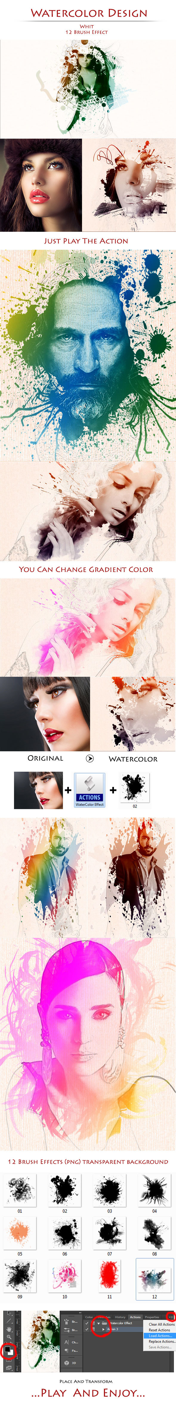 Watercolor Design - Photoshop Add-ons