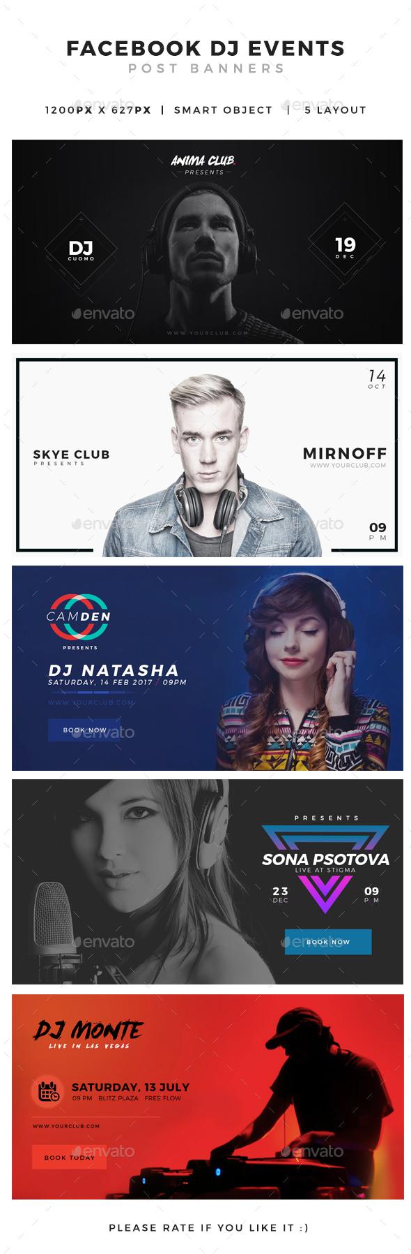DJ Events Facebook Post Banner - Facebook Timeline Covers Social Media