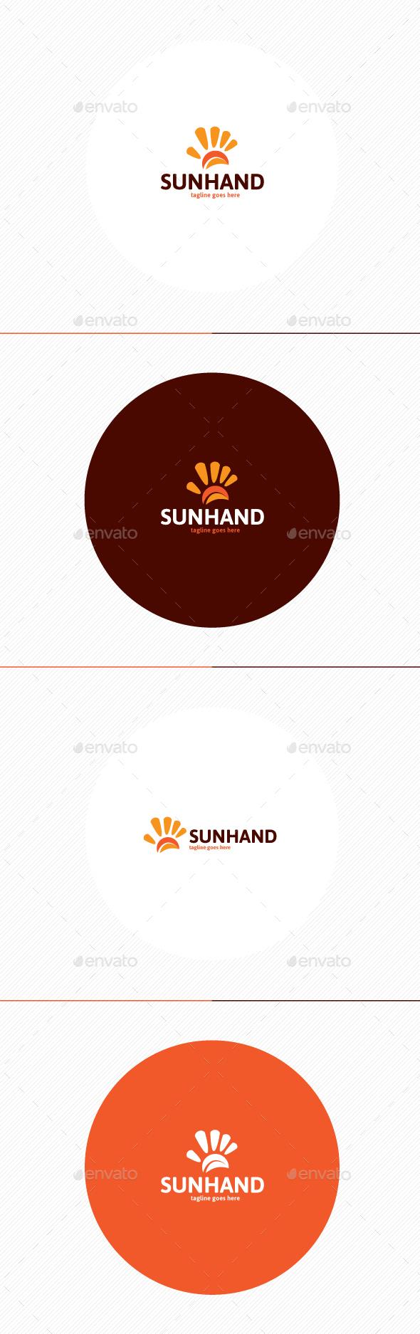 Sun Hand Logo - Symbols Logo Templates