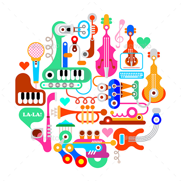 Musical Round Composition - Miscellaneous Vectors