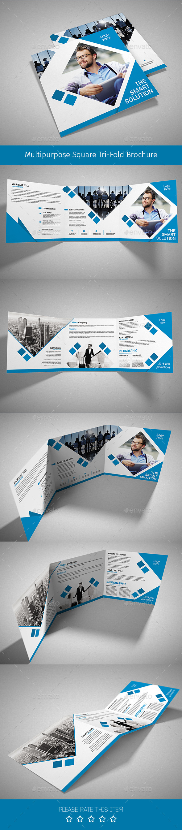 Corporate Tri-fold Square Brochure 09 - Corporate Brochures