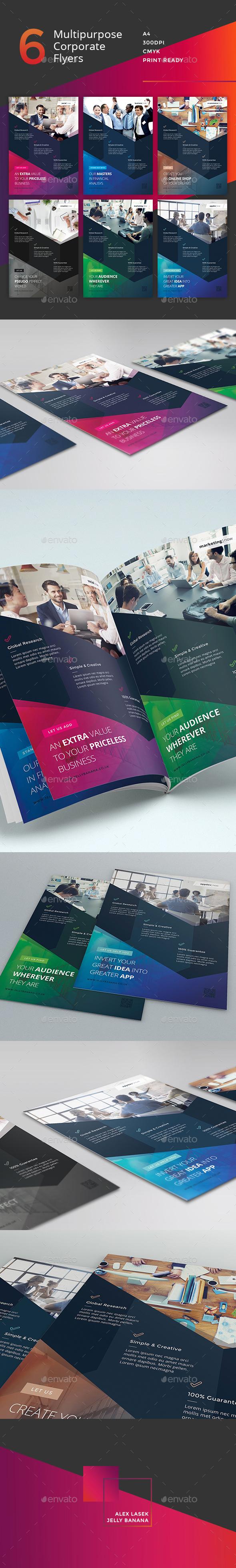 Corporate Flyer - 6 Multipurpose Business Templates vol 26 - Corporate Flyers