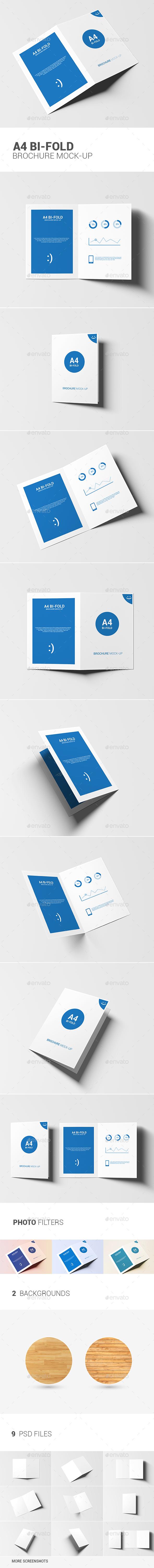 A4 Bi-fold Brochure Mock-Up - Brochures Print