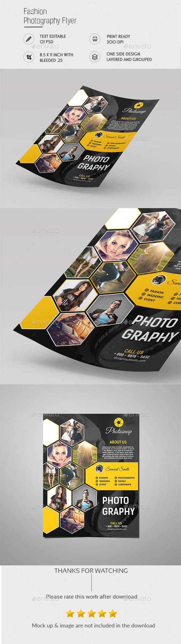 Fashion Photography Flyer - Flyers Print Templates