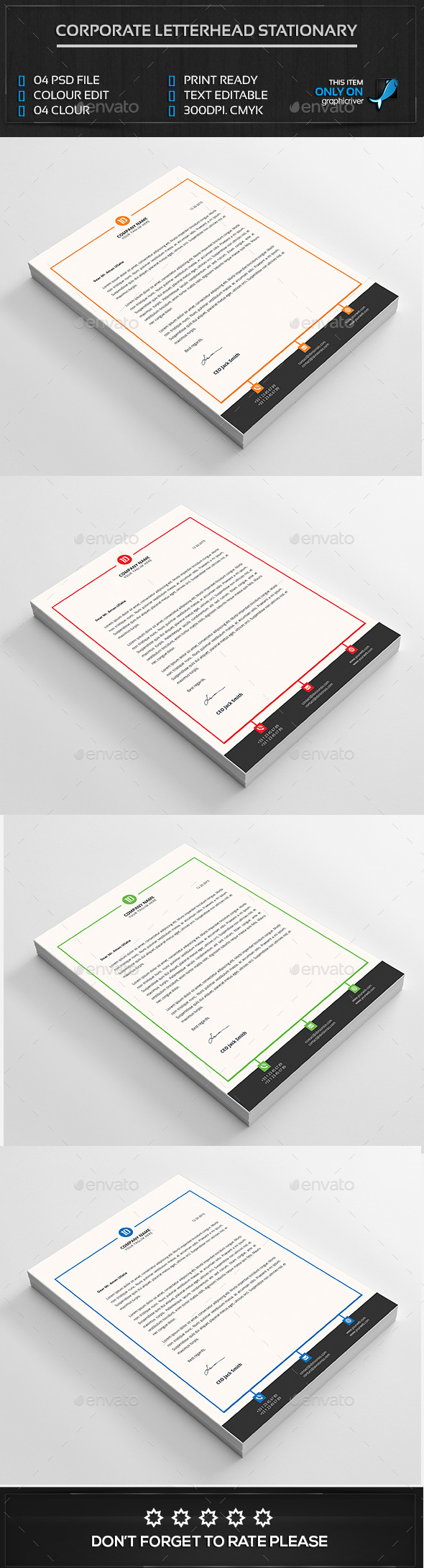 Corporate letterhead template - Corporate Brochures