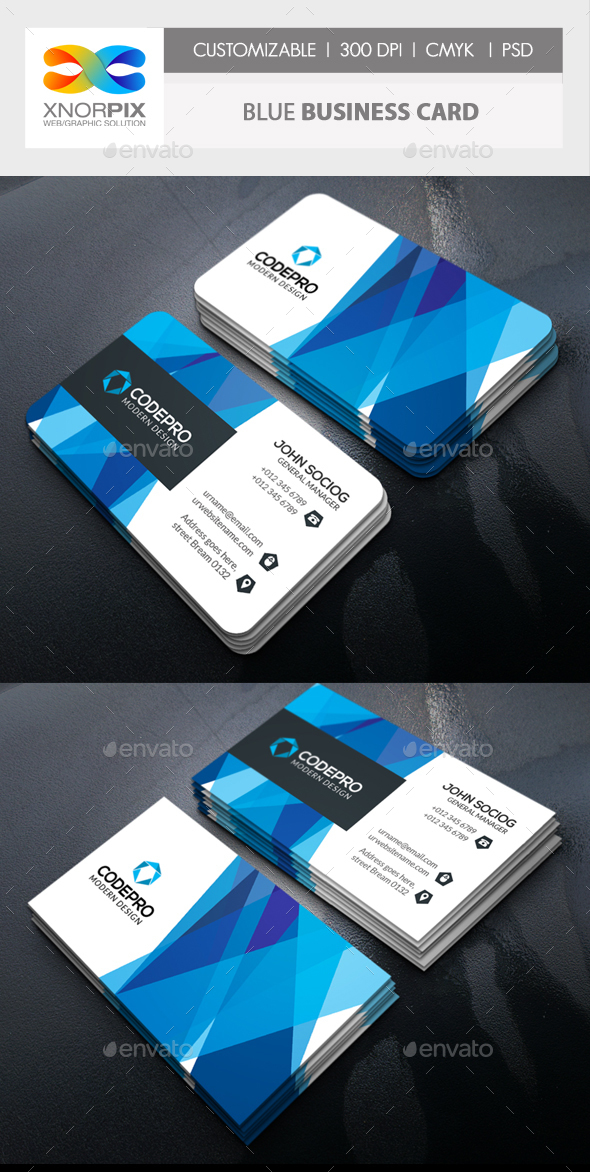 Blue Business Card - Corporate Business Cards