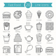 Fast Food Line Icons - GraphicRiver Item for Sale