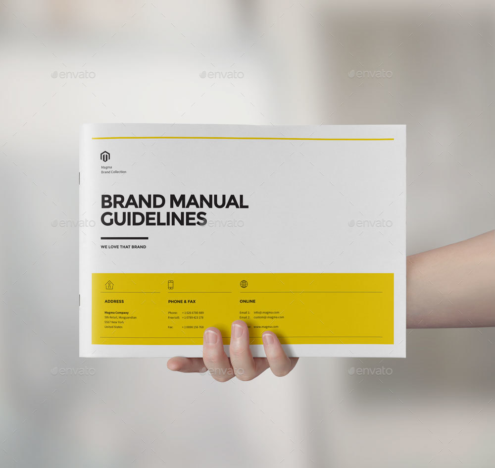 Brand Manual Landscape By Cifaromi Graphicriver