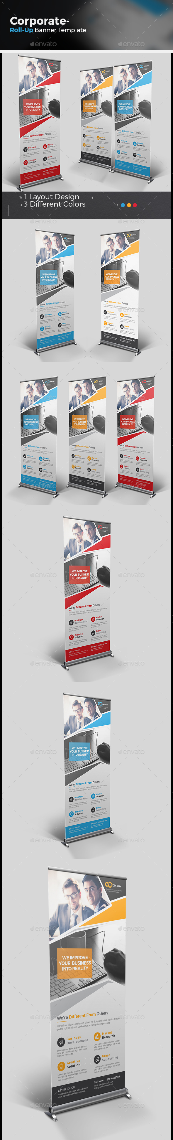 Corporate Roll-up Banner - Corporate Flyers