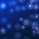 Blue Snowflakes with Bokeh - VideoHive Item for Sale