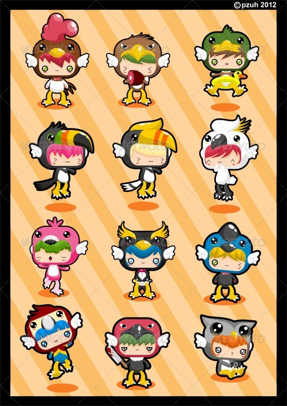 Kawaii Costume Pack: Birdie