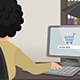 Cartoon Shopping / Girl Online Buying - VideoHive Item for Sale