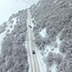 Moving Cars on Snowy Road - VideoHive Item for Sale