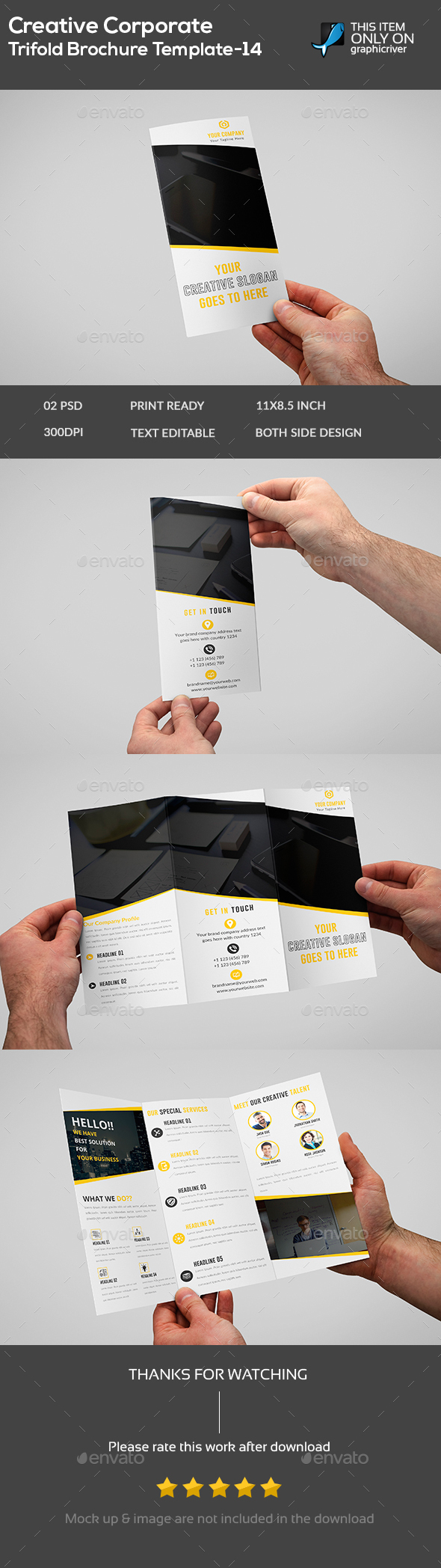 Creative Corporate Brochure Template -14 - Brochures Print Templates