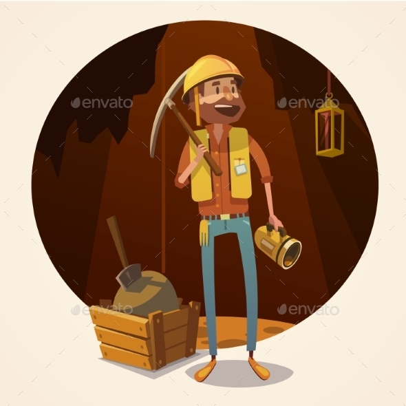 Mining Concept Illustration - People Characters