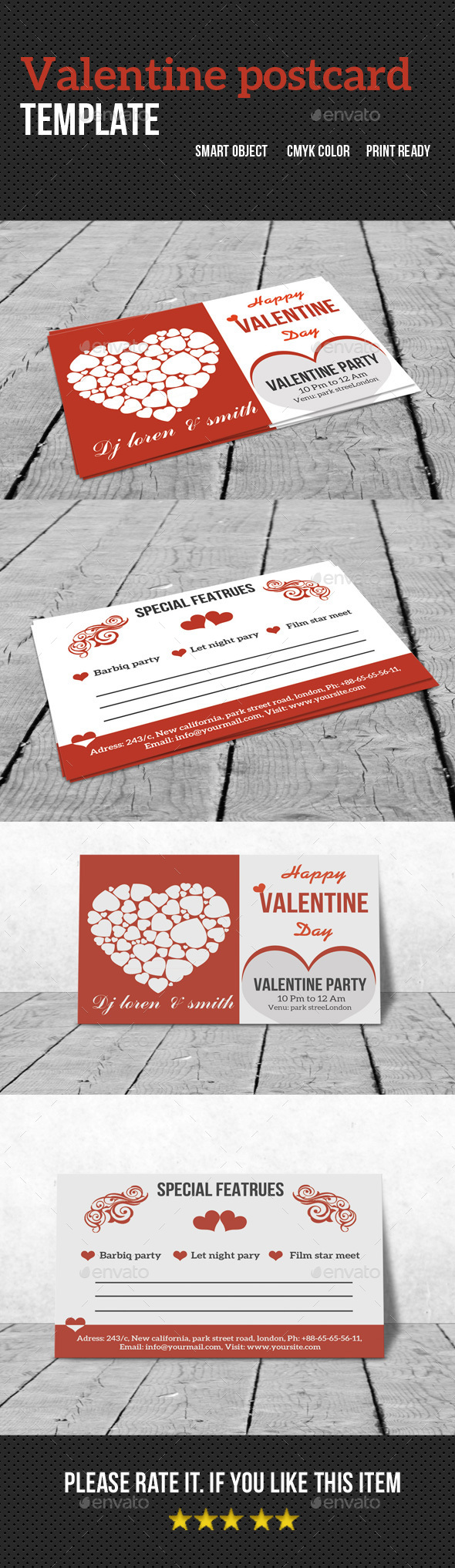 Valentine Postcard - Creative Business Cards