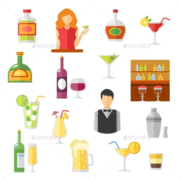 Bar Flat Icons Collection  - Miscellaneous Icons