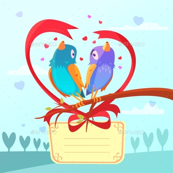 Valentine Day Retro Cartoon - Valentines Seasons/Holidays