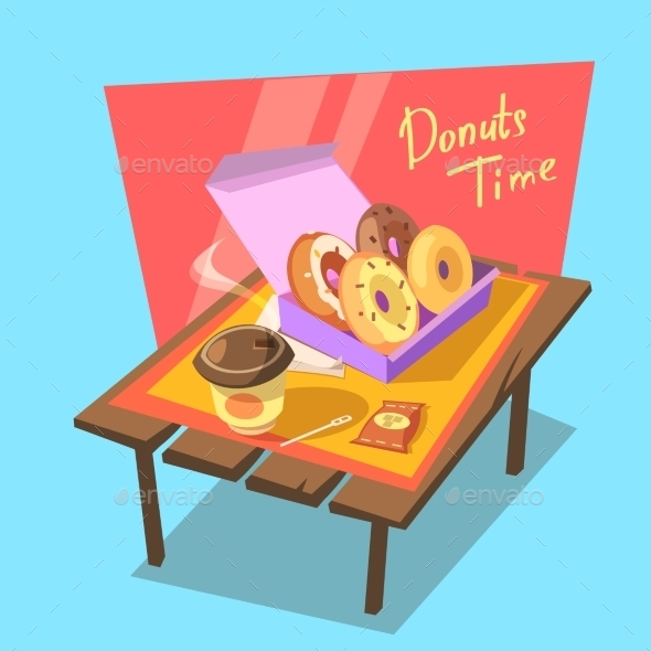 Donuts Time Concept - Food Objects