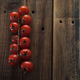 Red Cherry Tomatoes On Wooden Table Board - VideoHive Item for Sale