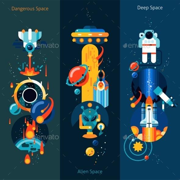 Space Banner Set - Miscellaneous Conceptual