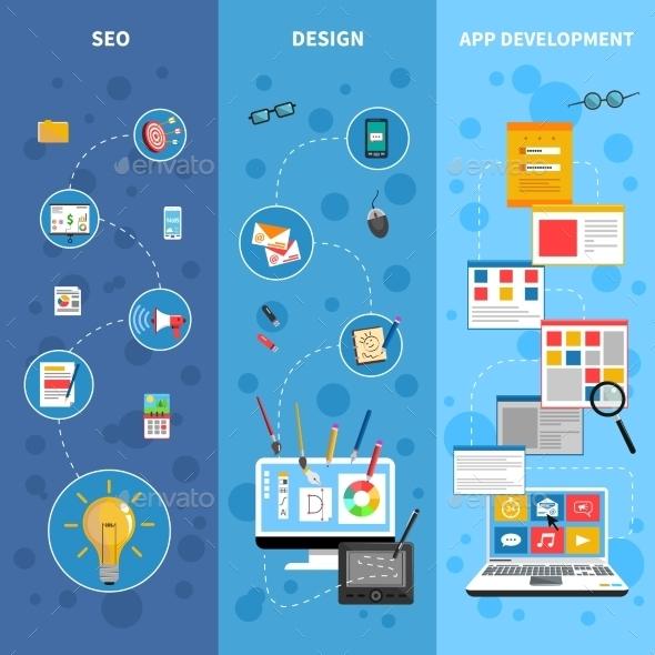 Programming Banners Set - Web Technology