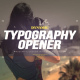 Dynamic Typography Opener - VideoHive Item for Sale