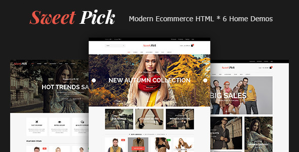 Sweet Pick | Modern E-commerce HTML Template - Shopping Retail