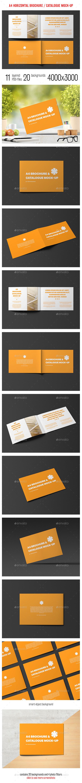 A4 Horizontal Brochure / Catalogue Mock-Up - Brochures Print