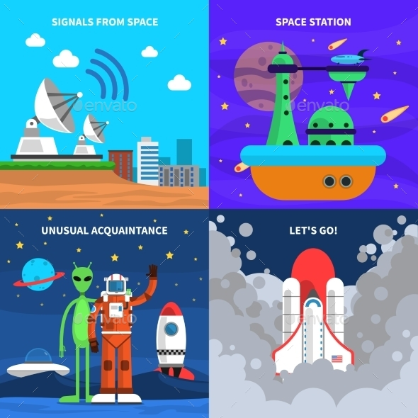 Space Concept Set - Miscellaneous Vectors