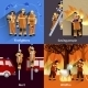 Firefighter People Design Compositions