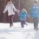 Happy Family On a Winter Outing - VideoHive Item for Sale